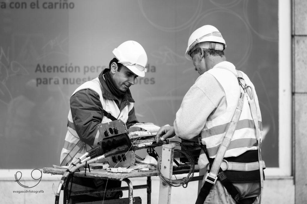 Trabajadores en la calle