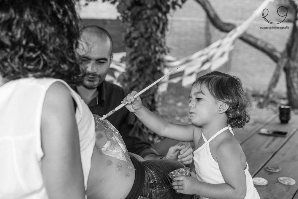 Pintando en familia, embarazo