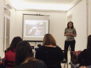 Eva Gascon presentando el curso